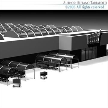 market building 3d model 3ds dxf c4d obj 80521
