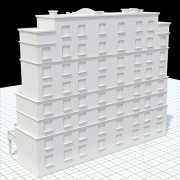 modern highly detailed tenement house 3d model lwo lxo obj 104720