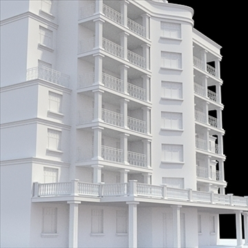 modern highly detailed tenement house 3d model lwo lxo obj 104721