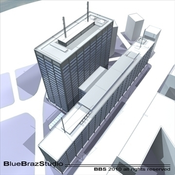 new scotland yard 3d model 3ds dxf c4d obj 102610