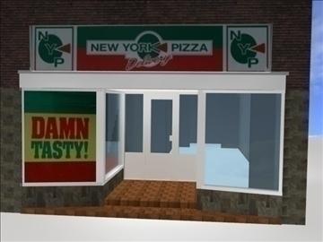 new york pizza 3d model 3ds 98362