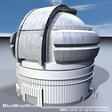 observatory 3d model 3ds dxf c4d obj 93224
