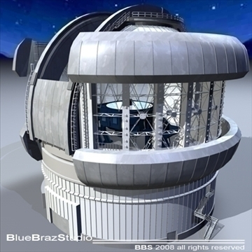 observatory with telescope 3d model 3ds dxf c4d obj 94155