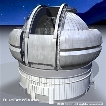observatory with telescope 3d model 3ds dxf c4d obj 94156