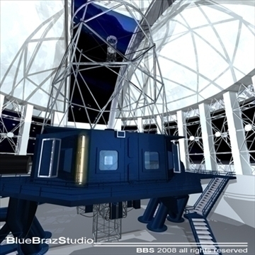 observatory with telescope 3d model 3ds dxf c4d obj 94159