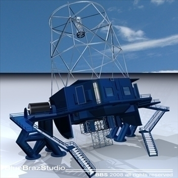 observatory with telescope 3d model 3ds dxf c4d obj 94162