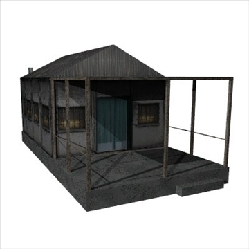 old house 3d model 3ds 97542