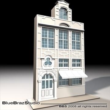 old style facade 3d model 3ds dxf c4d obj 109910