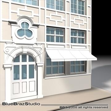old style facade 3d model 3ds dxf c4d obj 109911