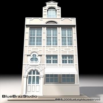 old style facade 3d model 3ds dxf c4d obj 109912