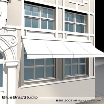old style facade 3d model 3ds dxf c4d obj 109913