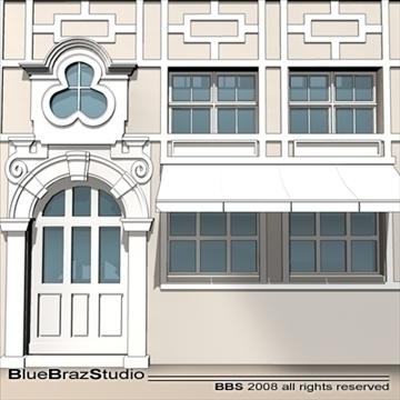 old style facade 3d model 3ds dxf c4d obj 109914