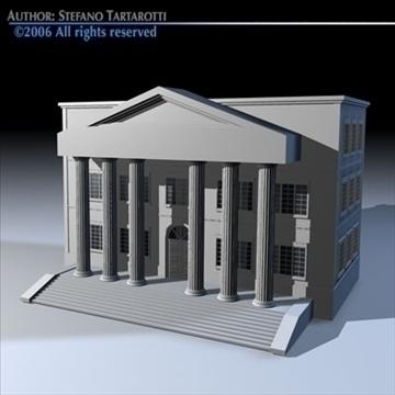 public building 3d model 3ds dxf c4d obj 82178