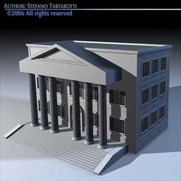 public building 3d model 3ds dxf c4d obj 82181