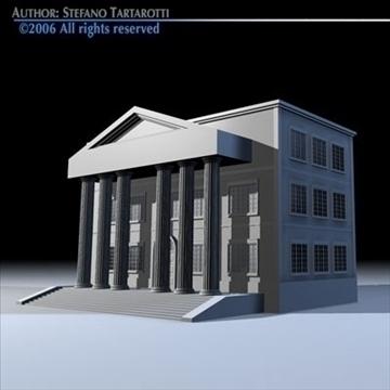 public building 3d model 3ds dxf c4d obj 82182