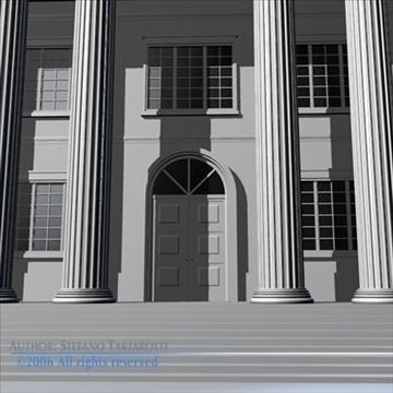 public building 3d model 3ds dxf c4d obj 82183