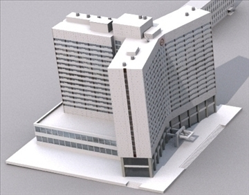 russian hotel arctica 3d model lwo 79361