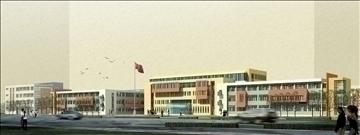 zgrada škole 151 3d model 3ds max psd 90988
