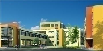 zgrada škole 151 3d model 3ds max psd 90990