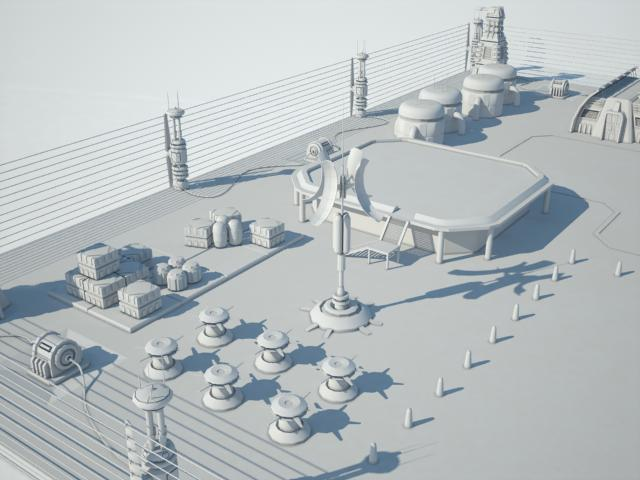 Scifi military base