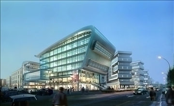 shopping mall building 086 3d model 3ds max psd 90642