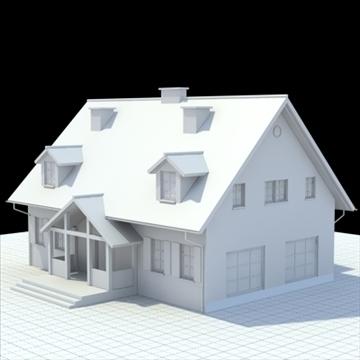 single family house 3d model 3ds blend lwo lxo obj 100029
