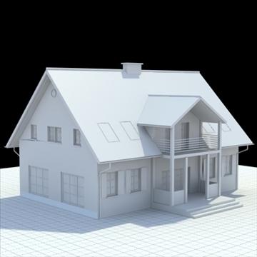 single family house 3d model 3ds blend lwo lxo obj 100030
