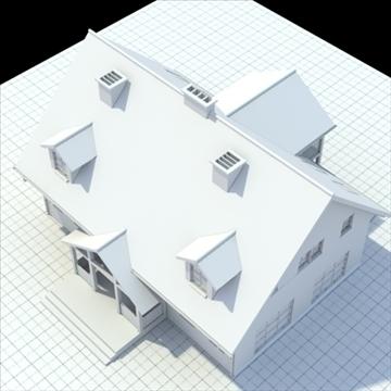 single family house 3d model 3ds blend lwo lxo obj 100031