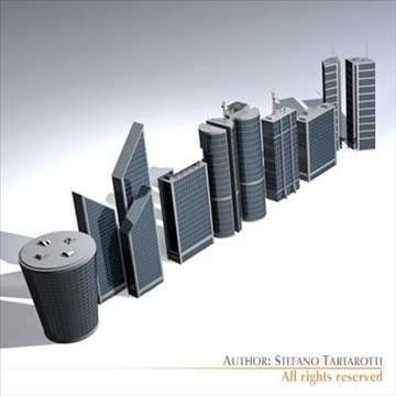 skyscraper collection 3d model 3ds dxf c4d obj 95595