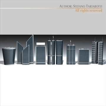 skyscraper collection 3d model 3ds dxf c4d obj 95596