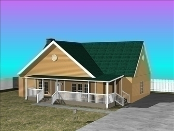 small house 3d model dxf 94339