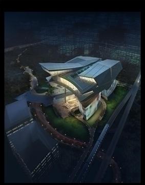 stadion épület 3d modell 3ds max psd 90674