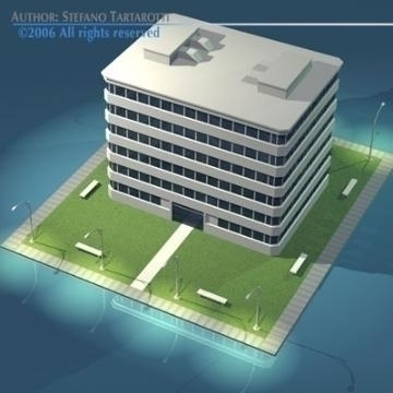 stilizedcity-building1 3d model 3ds dxf obj digər 78571