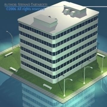 stilizedcity-building1 3d model 3ds dxf obj digər 78572