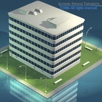 stilizedcity-building1 3d model 3ds dxf obj digər 78573