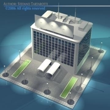 stilizedcity-building2 3d model 3ds dxf obj other 78575