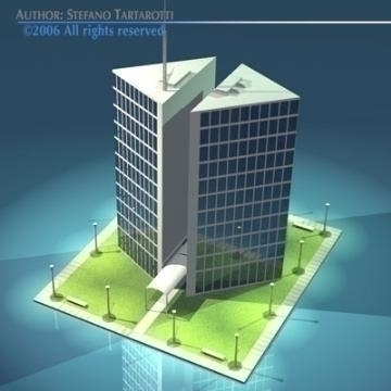 stilizedcity-triangle building 3d model 3ds dxf obj other 78566