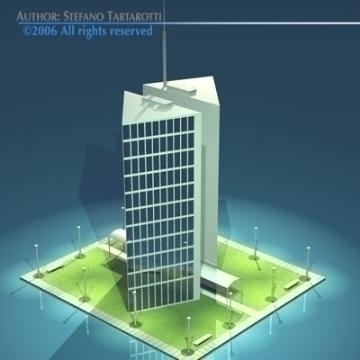 stilizedcity-triangle building 3d model 3ds dxf obj other 78567