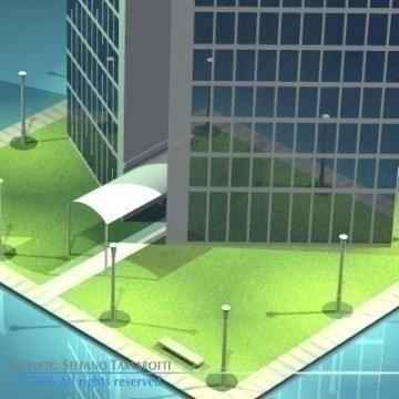 stilizedcity-triangle building 3d model 3ds dxf obj other 78568