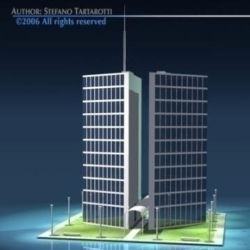 stilizedcity-triangle building 3d model 3ds dxf obj other 78569