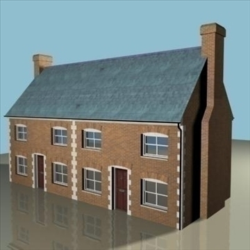 terraced house 2 3d model 3ds max 85055