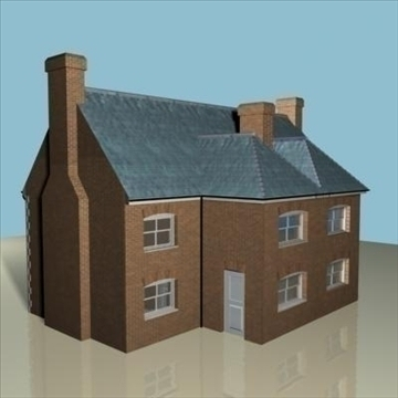 terraced house 2 3d model 3ds max 85056