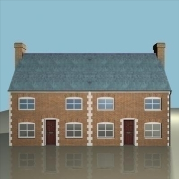 terraced house 2 3d model 3ds max 85057