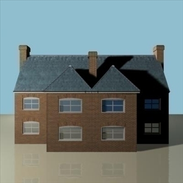 terraced house 2 3d model 3ds max 85058