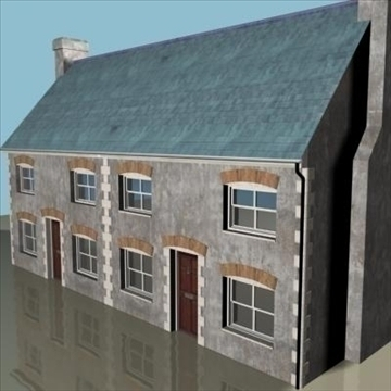 terraced house 2 3d model 3ds max 85061