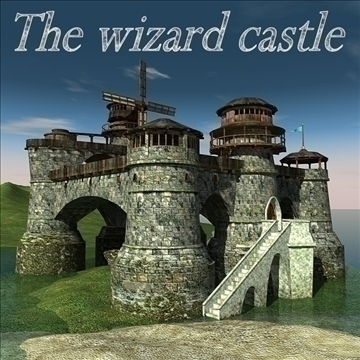 the wizard castle 3d model 3ds max cob c4d lwo hrc xsi obj 83272