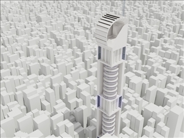 tower building 1 3d model max 93080