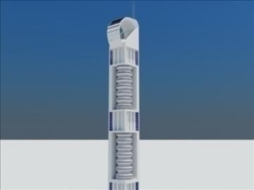 tower building 1 3d model max 93081