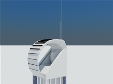 tower building 1 3d model max 93086