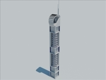 tower building 1 3d model max 93088